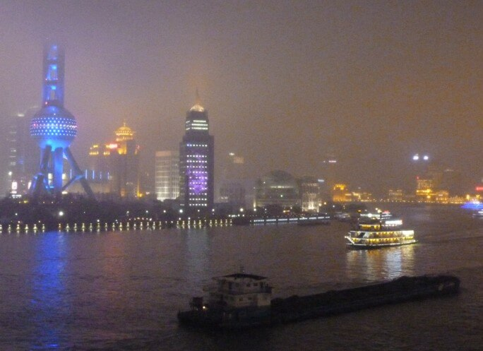 A misty night in Shanghai
