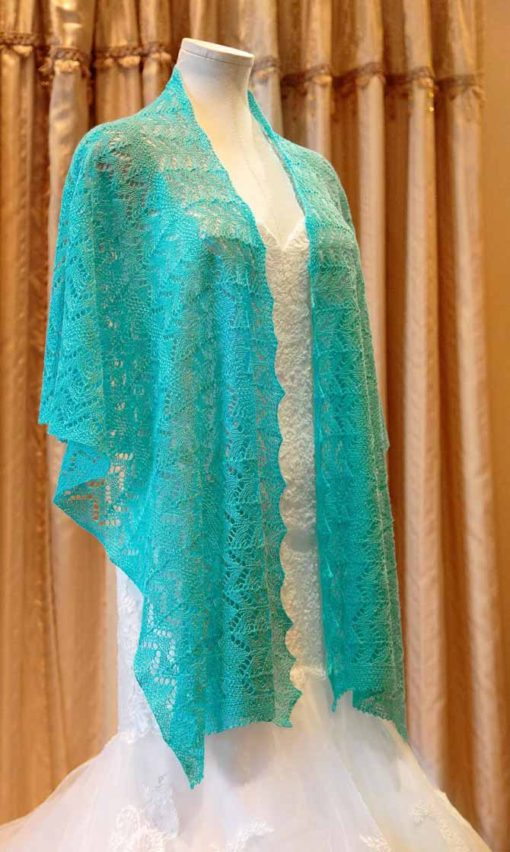 Double Horseshoe Wedding Shawl